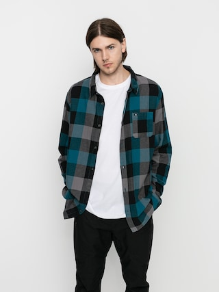 Quiksilver Motherfly Flannel Shirt (blue coral motherfly)