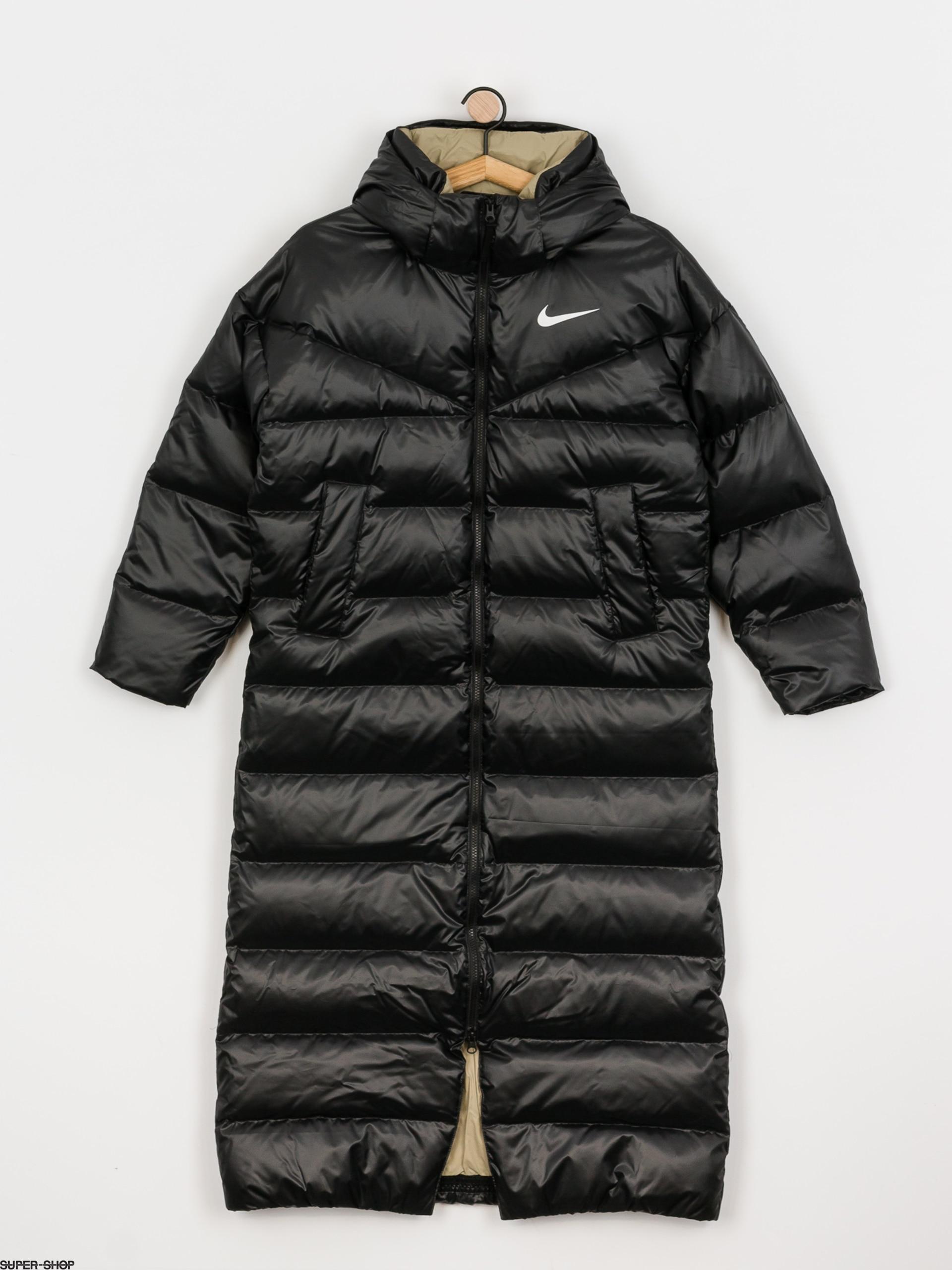 Deflector Dempsey limpiador  Nike Sportswear Coat Long Jacket Wmn (black/mystic stone/white)