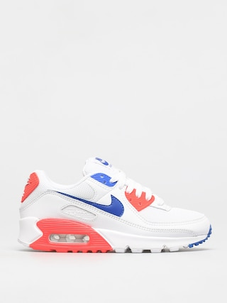 Nike Air Max 90 Shoes Wmn (white/racer blue flash crimson)