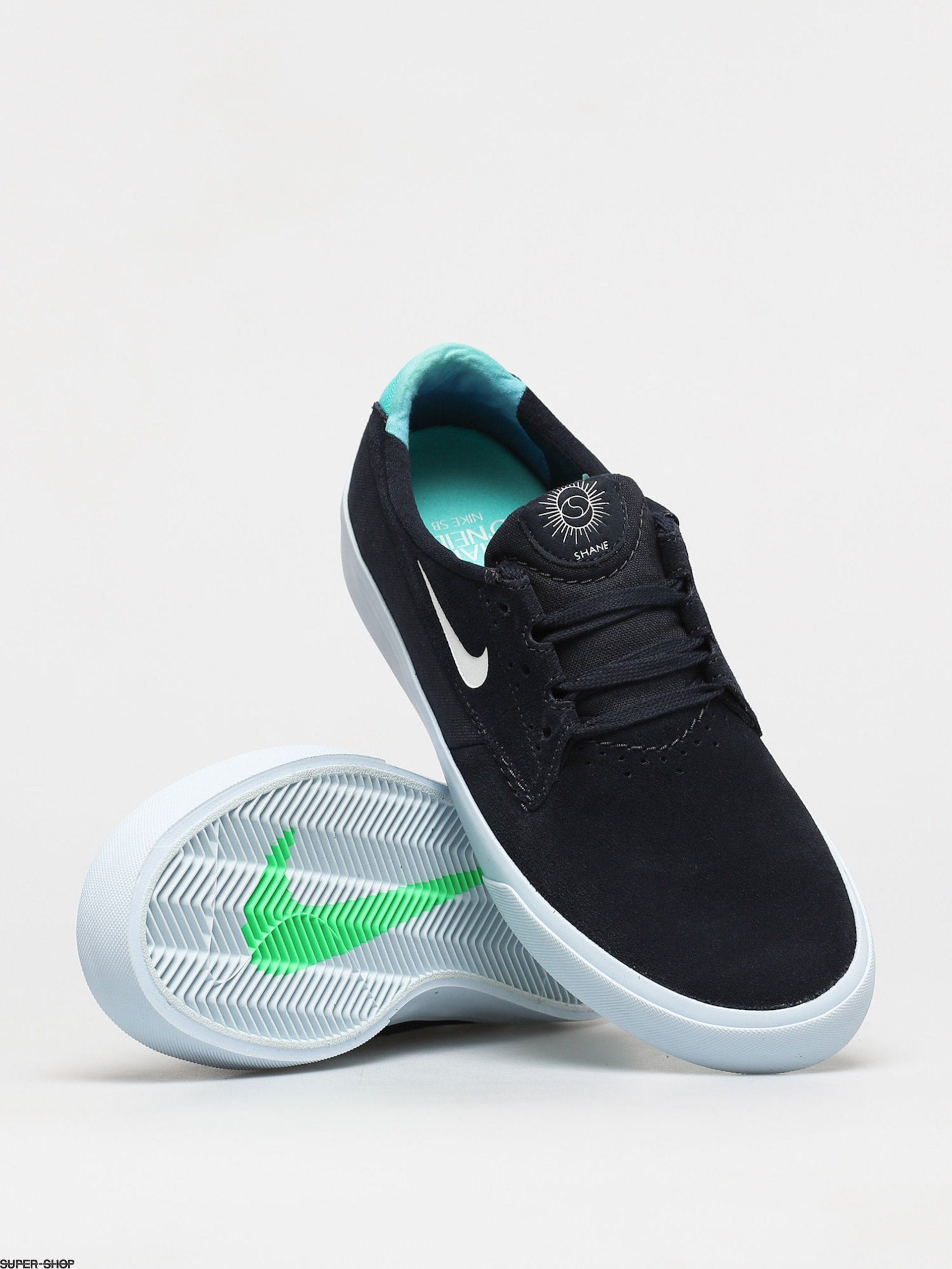 Nike SB Shane T Shoes (dark obsidian/white hyper jade)