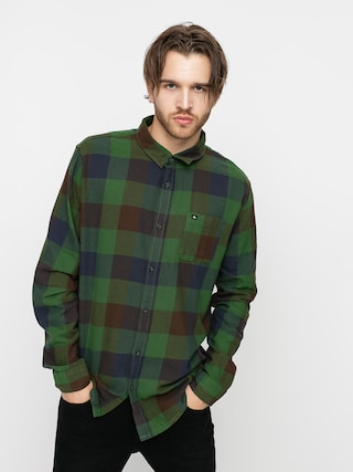 Quiksilver Motherfly Flannel Shirt (greener pasture motherfly)