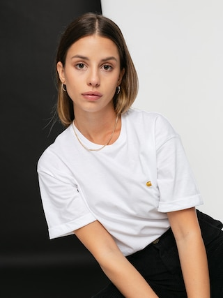 Carhartt WIP Chase T-shirt Wmn (white/gold)