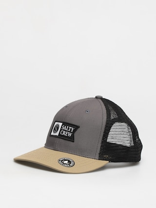 Salty Crew Pinnacle Retro Trucker ZD Cap (charcoal/khaki)