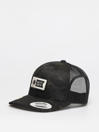 Salty Crew Topstitch Retro Trucker ZD Cap (multicam black)