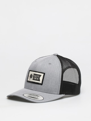 Salty Crew Topstitch Retro Trucker ZD Cap (heather grey/black)