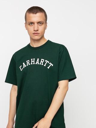 Carhartt WIP University T-shirt (bottle green/white)