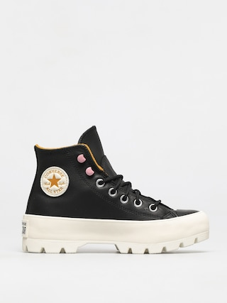 Converse Chuck Taylor All Star Lugged Winter Leather Shoes Wmn (black/saffron yellow/egret)
