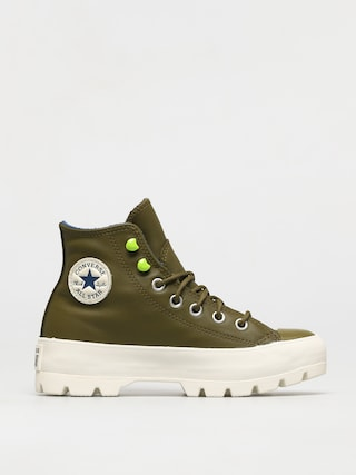 Converse Chuck Taylor All Star Lugged Winter Leather Shoes Wmn (dark moss/navy/egret)