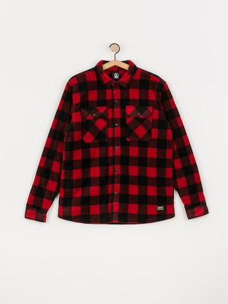Volcom Bower Polar Fleece Jacket (rio red)