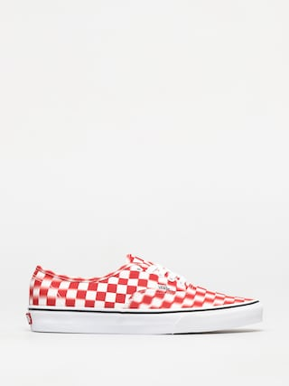 Vans Authentic Shoes (blur check/true white/red)
