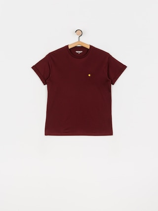Carhartt WIP Chase T-shirt Wmn (bordeaux/gold)