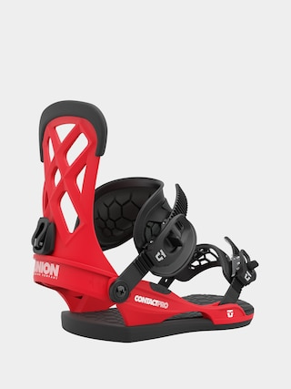 Union Contact Pro Snowboard bindings (red)