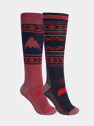 Burton Performance Lightweight 2 Pack Socks Wmn (dress blue/spiced plum)