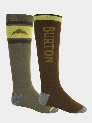 Burton Weekend Midweight 2Pk Socks (martini olive/keef)