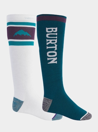 Burton Weekend Midweight 2Pk Socks (stout white/dynasty green)