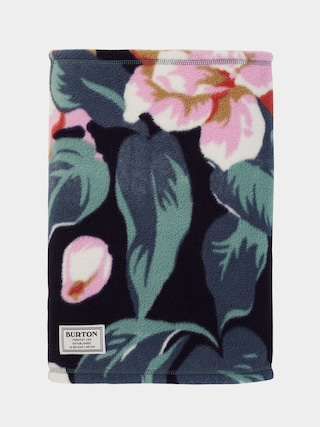 Burton Ember Fleece Neckwarmer (dark slate oversized floral)
