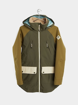 Burton Prowess Snowboard jacket Wmn (keef/martini olive/creme brulee)