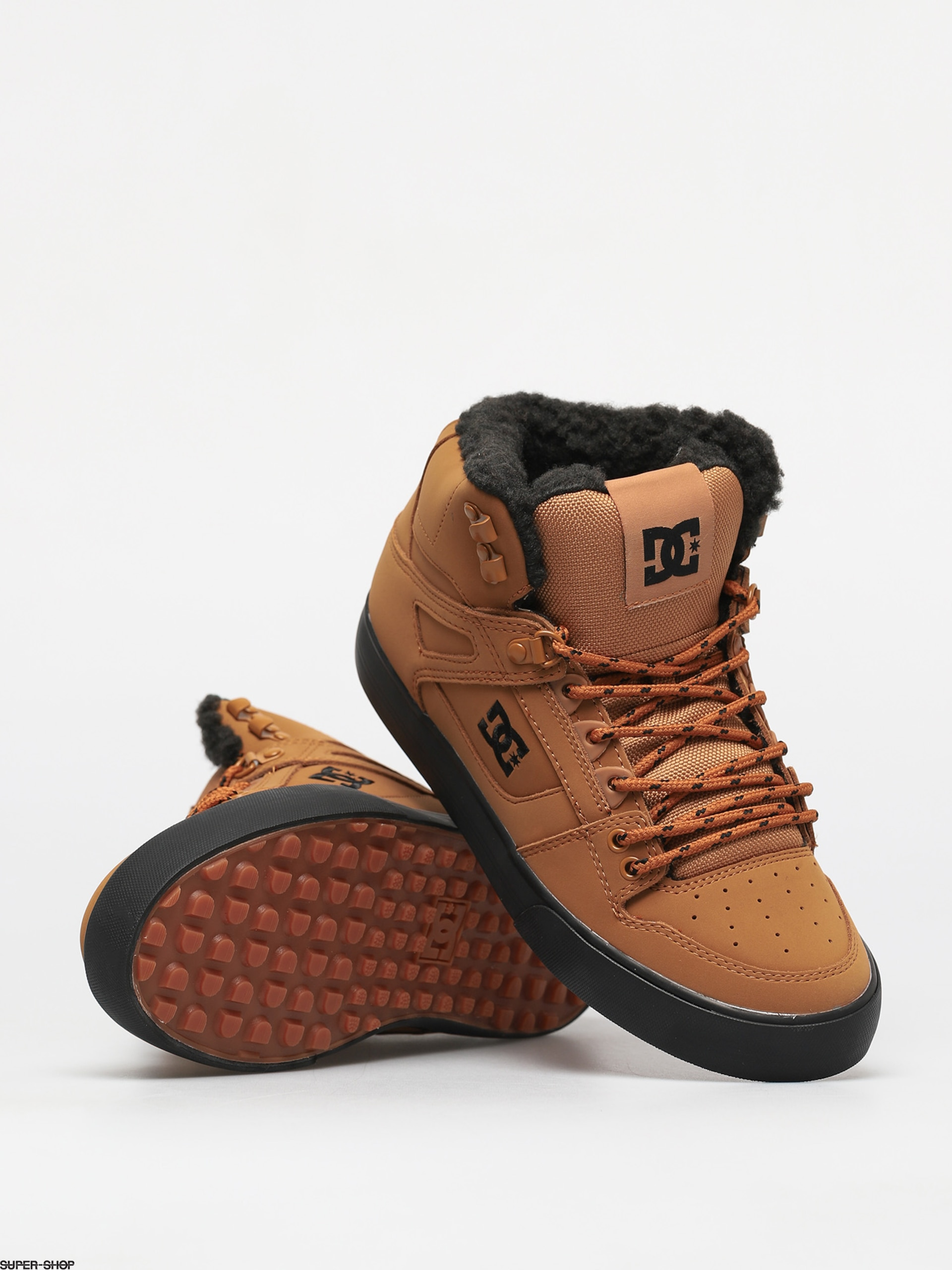 DC Pure High Top Wc Wnt Shoes (wheat/black)