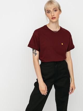 Carhartt WIP Chase T-shirt Wmn (bordeaux/gold)