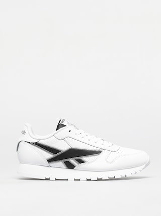 Reebok Classic Leather Shoes (white/black/msilve)