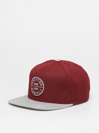 Brixton Oath III Snapback Cap (dark brick/heather grey)