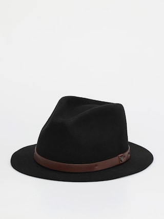 Brixton Messer Short Brim Fedora Hat (black)