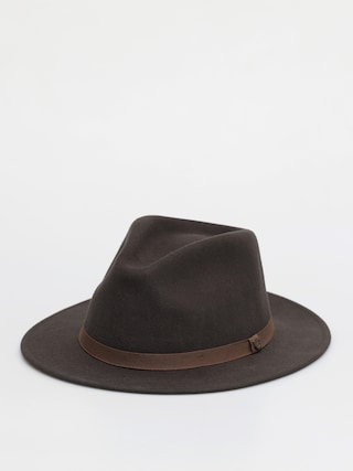 Brixton Messer Packable Fedora Hat (washed black/light brown)