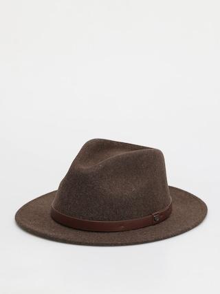 Brixton Messer Fedora Hat (heather brown)