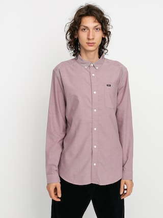 RVCA Thatll Do Stretch Ls Shirt (merlot)
