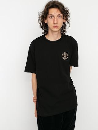Brixton Oath V T-shirt (black/dark brick)