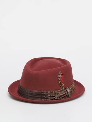 Brixton Stout Pork Pie Hat (dark brick)