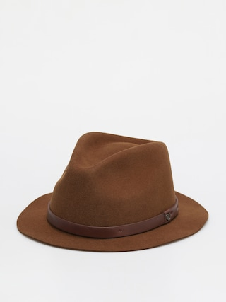 Brixton Messer Short Brim Fedora Hat (coffee)