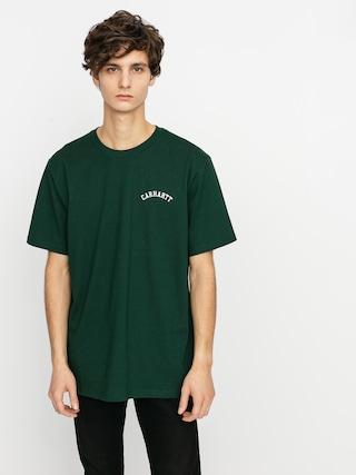 Carhartt WIP University Script T-shirt (bottle green/white)