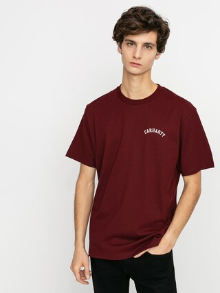 Carhartt WIP University Script T-shirt (bordeaux/white)