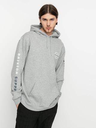 Brixton Oath VI HD Hoodie (heather grey/white/washed navy)