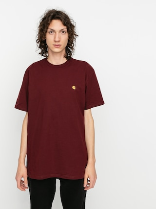 Carhartt WIP Chase T-shirt (bordeaux/gold)