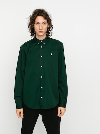 Carhartt WIP Madison Shirt (bottle green/wax)