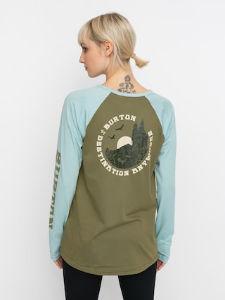Burton Roadie Base Layer Tech Active longsleeve Wmn (martini olive/ether blue)