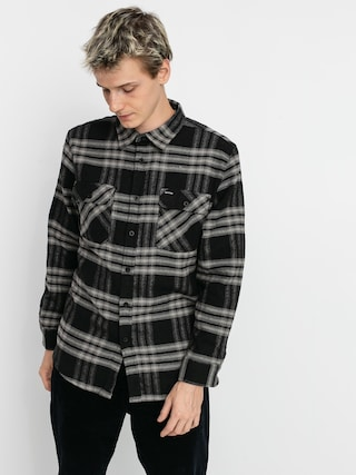 Brixton Bowery Flannel Ls Shirt (black/charcoal)