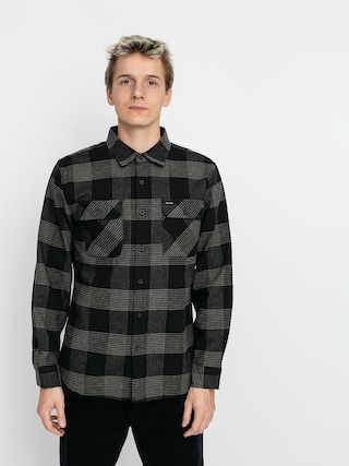 Brixton Bowery Flannel Ls Shirt (black/steel)