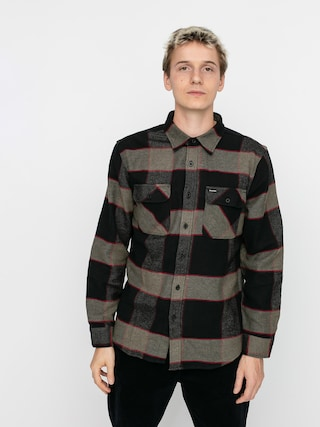 Brixton Bowery Flannel Ls Shirt (heather grey/charcoal)