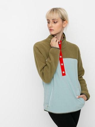 Burton Hearth HD Active sweatshirt Wmn (martini olive/ether blue)