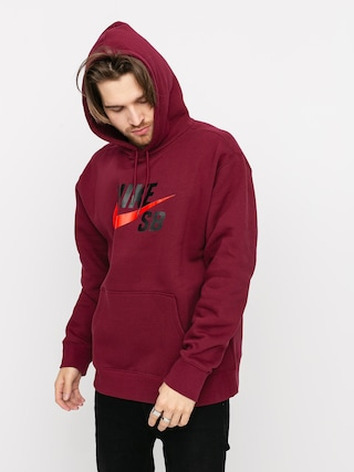 Nike SB Icon HD Hoodie (dark beetroot/chile red)