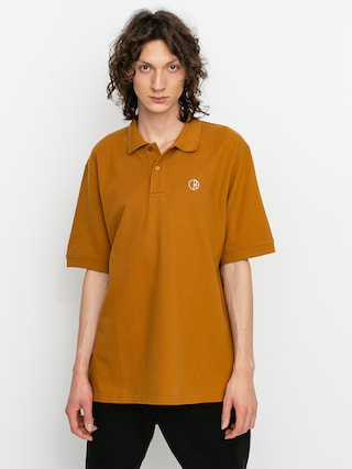Polar Skate Pique Polo t-shirt (golden brown)