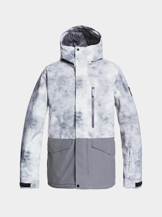Quiksilver Mission Printed Block Snowboard jacket (iron gate x-posure)