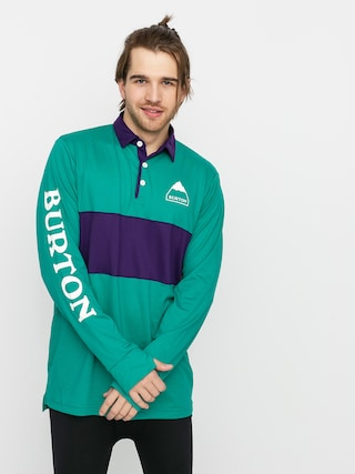 Burton Midweight Rugby Active longsleeve (dynasty green/parachute purple)