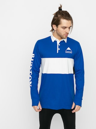 Burton Midweight Rugby Active longsleeve (lapis blue/stout white)