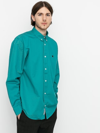 Carhartt WIP Madison Shirt (frosted turquoise/black)
