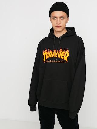 Thrasher Hoodie Flame HD (black)
