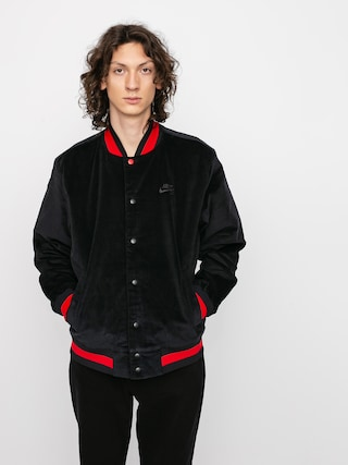 Nike SB Corduroy Bomber Jacket (black/black/university red/black)